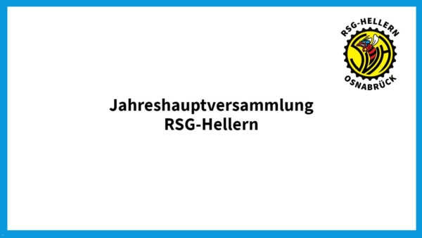 RSG Hellern Jahreshauptversammlung